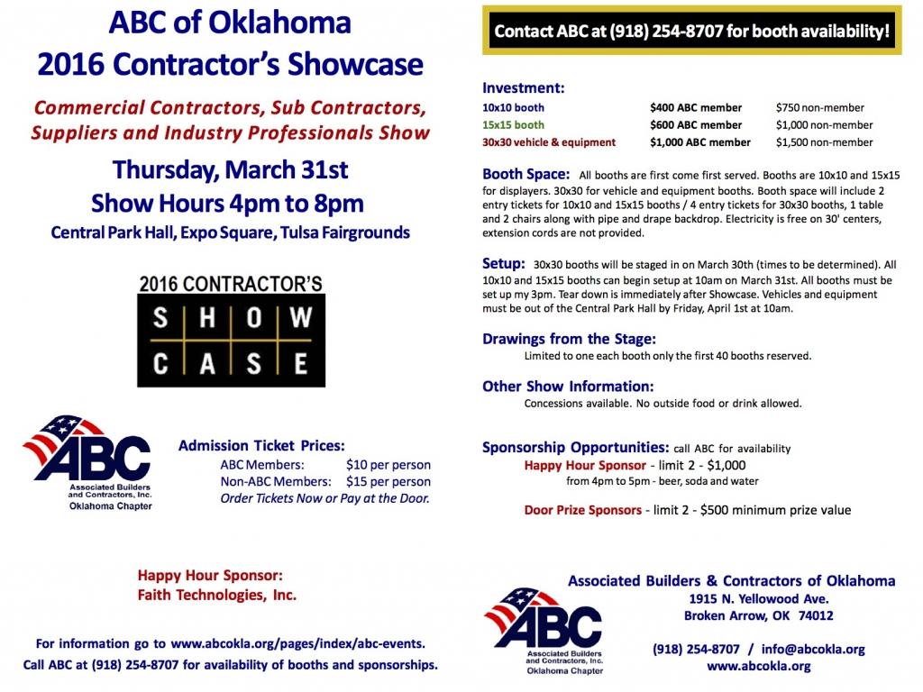 Tulsa Regional Chamber - ABC of Oklahoma 2016 Contractor's